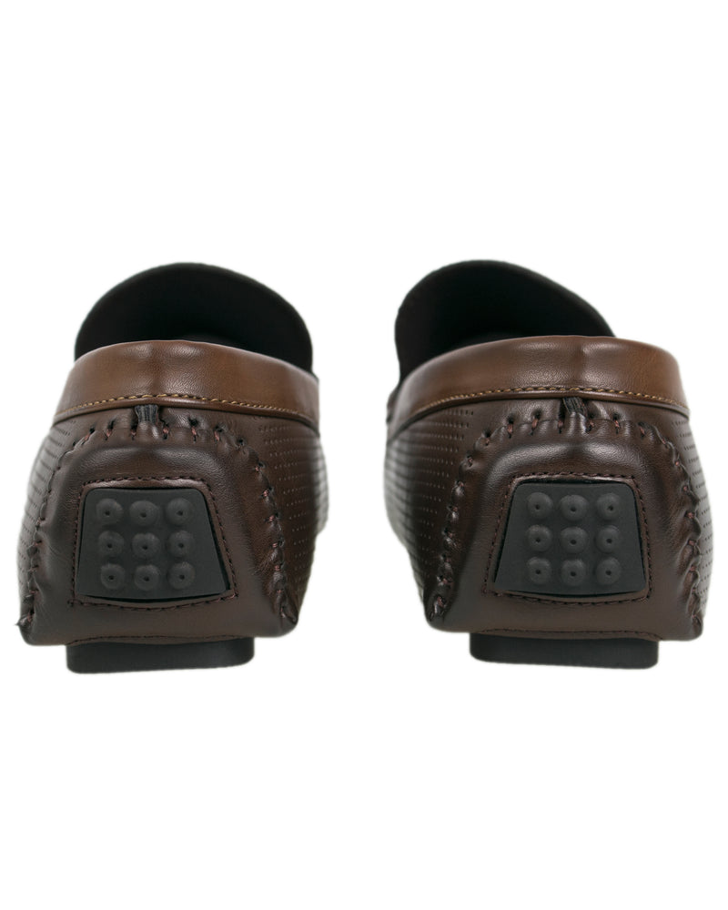 Load image into Gallery viewer, Tomaz C324 Braided Strap Moccasins (Coffee)