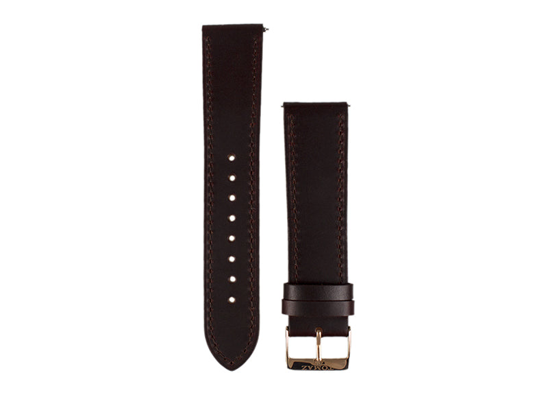 Tomaz 22mm Leather Watch Strap (Wine) - Tomaz Shoes (425769926685)