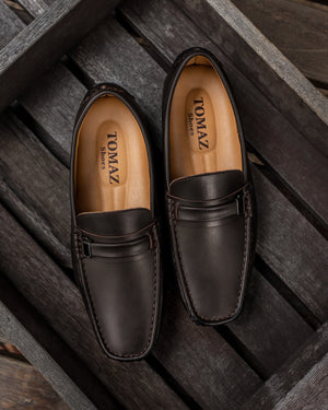 Load image into Gallery viewer, Tomaz C292 Buckled Loafers (Coffee) (10718570120)