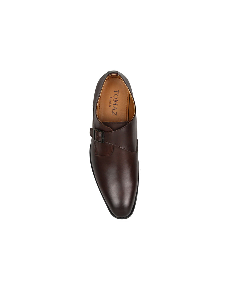 Load image into Gallery viewer, Tomaz F230 Single Monkstrap Loafers (Coffee)