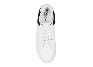 Tomaz TR1003 Mens Sneakers (White/Black)