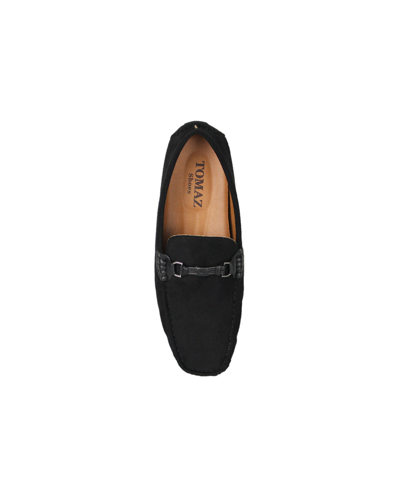 Load image into Gallery viewer, Tomaz C352 Buckled Moccasins (Black)