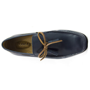 Tomaz  C192B Ribbon Tassel Moccasins (Navy) - Tomaz Shoes