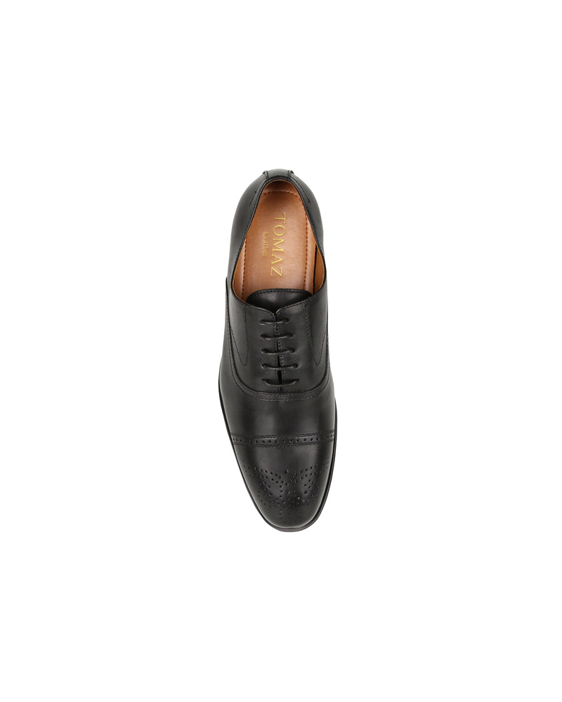 Load image into Gallery viewer, Tomaz F211 Brogue Oxford Lace Up (Black) men shoe, men's shoe, men's italian dress shoes, men's dress shoes guide, men's dress shoes near me, dress shoes men, famous footwear near me, famous footwear locations, shoe store near me, best formal shoes, formal shoes