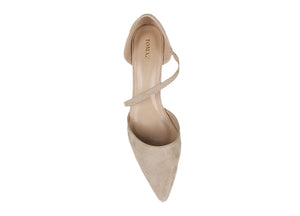Tomaz MNH14 Suede Leather Heels (Nude)