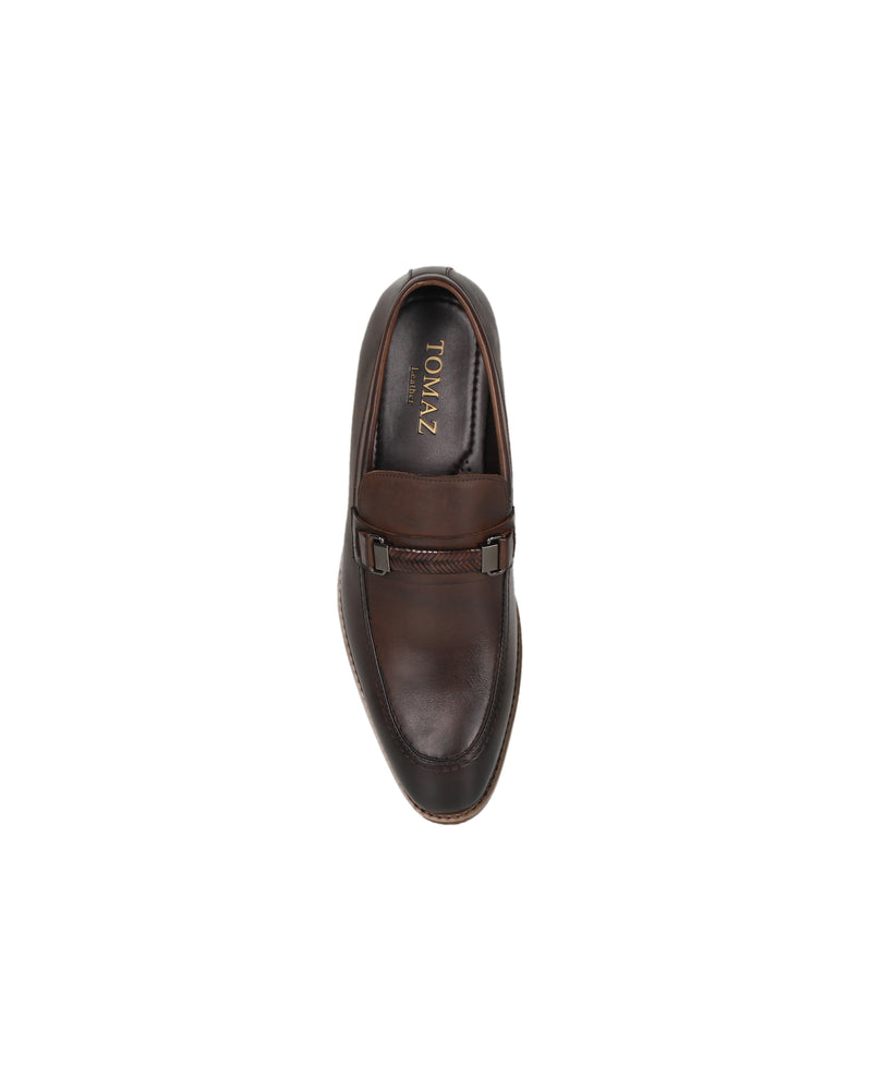 Load image into Gallery viewer, Tomaz BF157 Braided Formal Slip On (Coffee) men shoe, men's shoe, men's italian dress shoes, men's dress shoes, men's dress shoes near me, shoe shop near me, tomaz shoe locations, shoe store near me, formal shoes