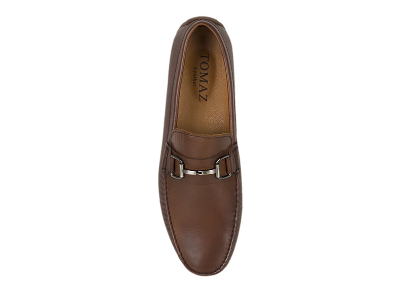 Load image into Gallery viewer, Tomaz C333 Front Buckled Loafers (Coffee) - Tomaz Shoes (782161412185)