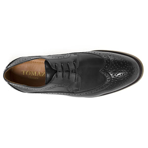 Load image into Gallery viewer, Tomaz F120 Wingtip Brogue (Black) - Tomaz Shoes (8843132936)