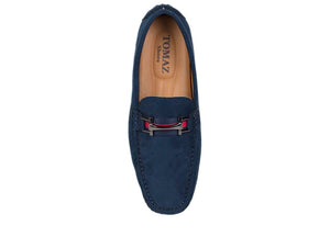 Load image into Gallery viewer, Tomaz C310 Buckled Loafers (Navy) - Tomaz Shoes (404487962653)