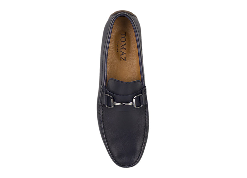 Load image into Gallery viewer, Tomaz C333 Front Buckled Loafers (Navy) - Tomaz Shoes (782161576025)