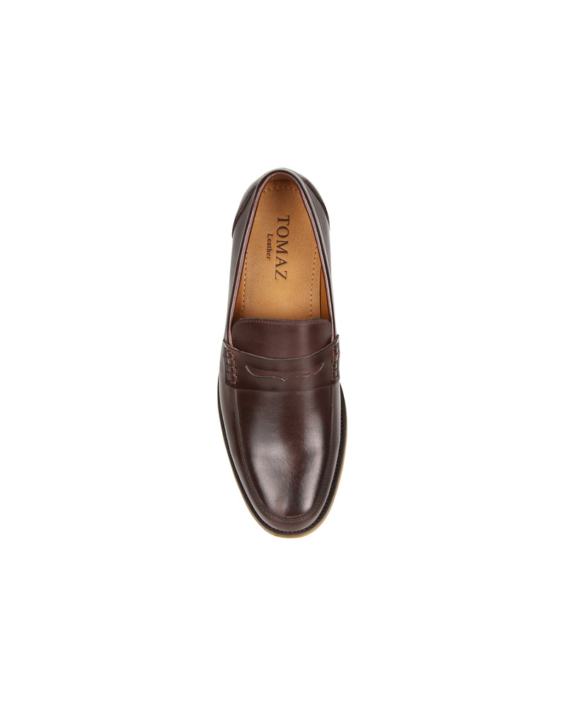 Load image into Gallery viewer, Tomaz F213 Penny Loafers (Coffee)
