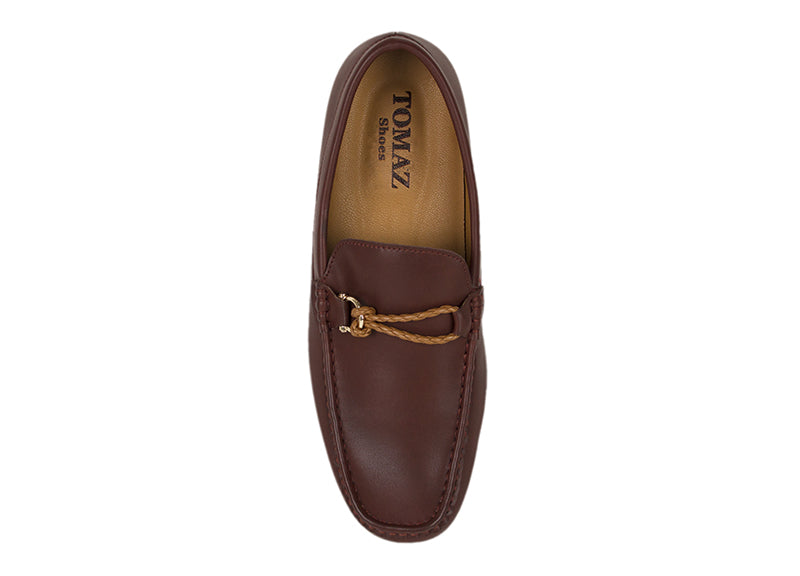 Load image into Gallery viewer, Tomaz Rolo Braided Buckle Moccasins (Coffee) (752587112537)