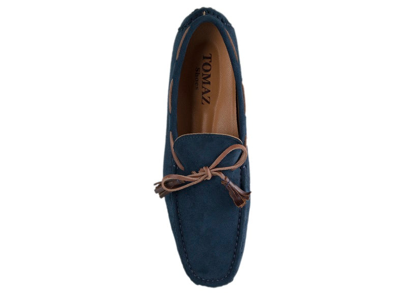 Load image into Gallery viewer, Tomaz C227A Bow Slip On (Navy) - Tomaz Shoes (10461375432)