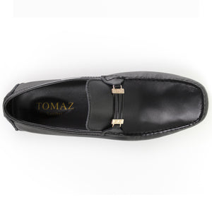 Load image into Gallery viewer, Tomaz C264 Buckled Loafers (Black) - Tomaz Shoes (8840253064)