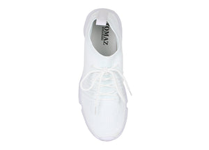 Tomaz 664 Running Sneakers (White) - Tomaz Shoes
