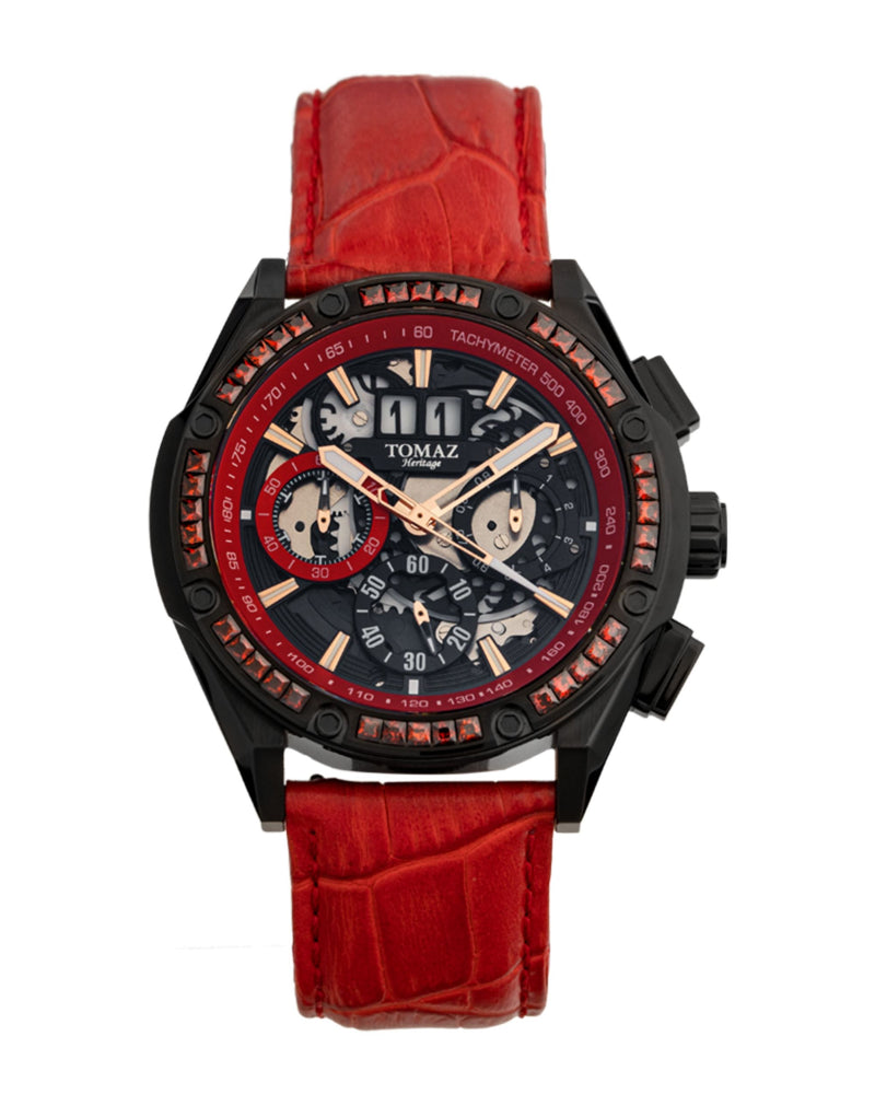 Load image into Gallery viewer, Tomaz Men's Watch RAWR III with Swarovski (Red/Black) -TW024A-D2 best men watch, automatic watch for men, Trending men watch, Luxury watch, Watches of Switzerland, automatic watch for men, jam tangan lelaki, jam tangan automatik, jam kronograf