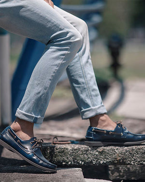 Load image into Gallery viewer, Tomaz 972-5D Leather Boatshoes (Navy) (9444866184)