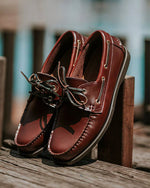 Tomaz 972-5D Leather Boatshoes (Wine) (4781186116)