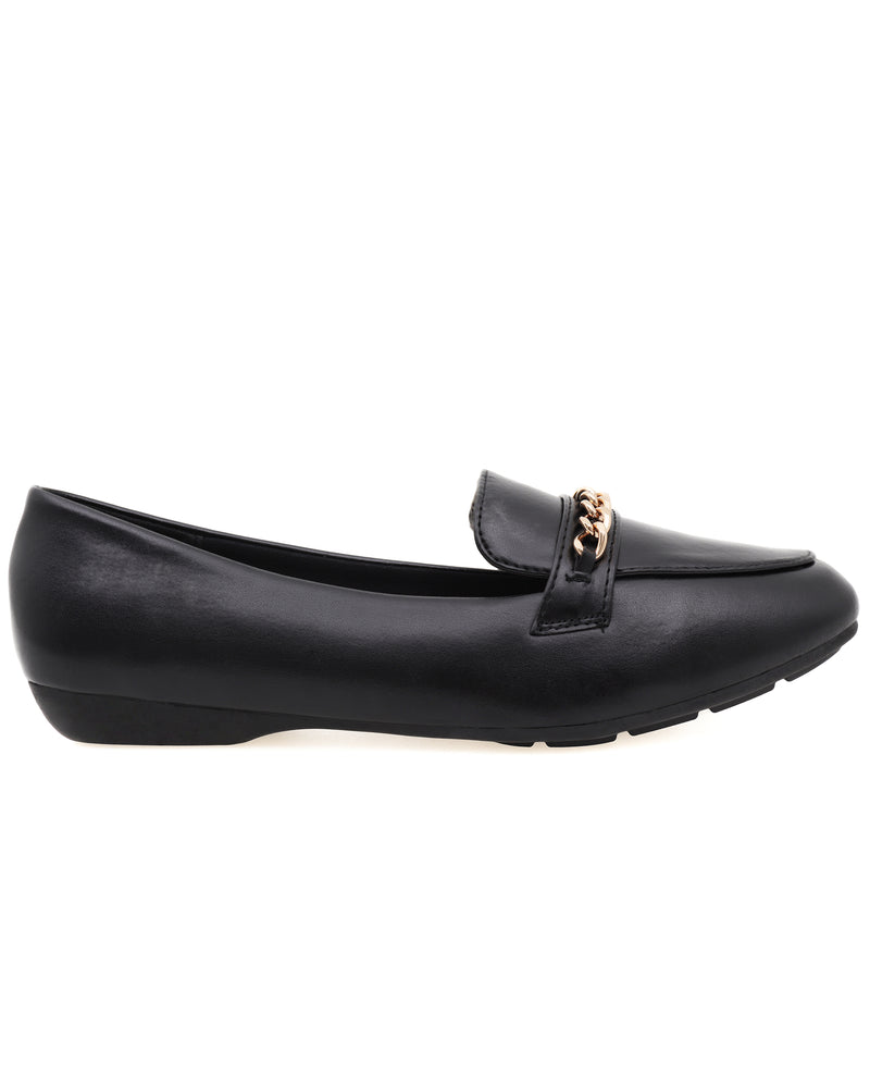 Load image into Gallery viewer, Tomaz 9FC44 Ladies Loafers (Black)