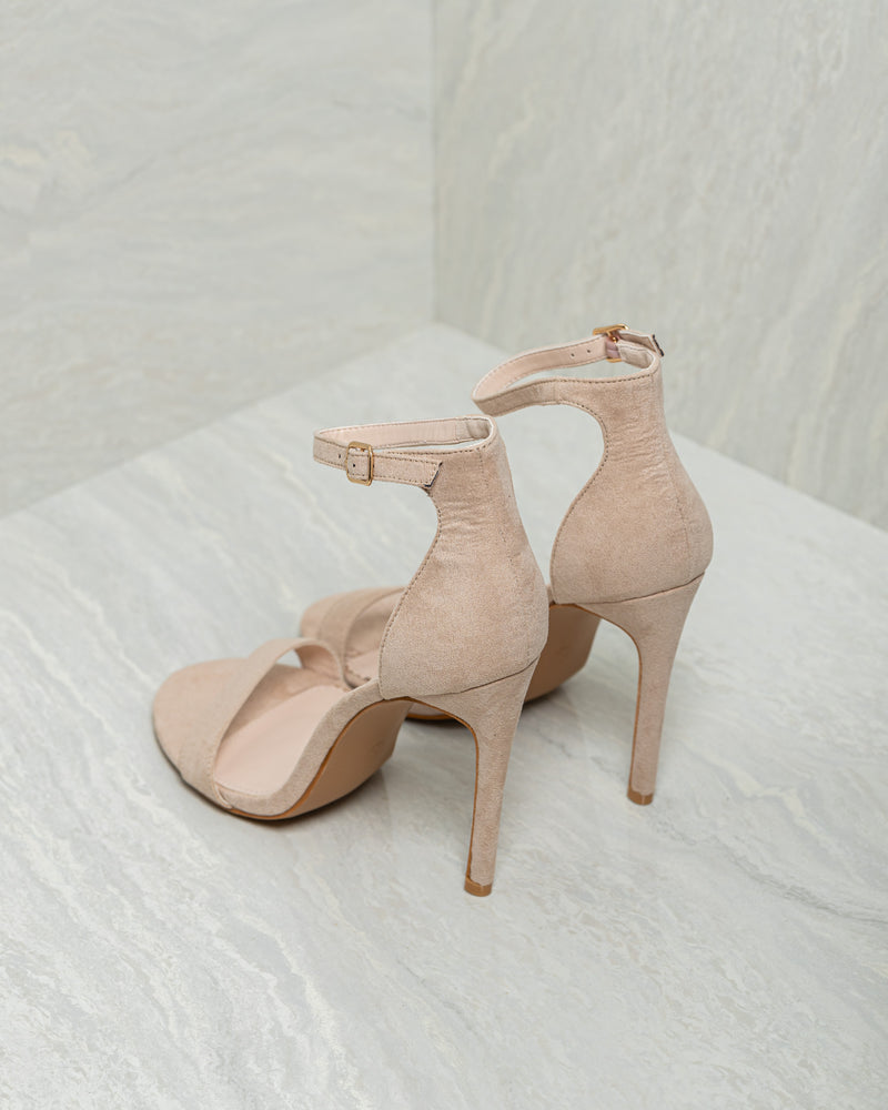 Load image into Gallery viewer, Tomaz 9HM19 Ladies Open Toe Heels (Nude)