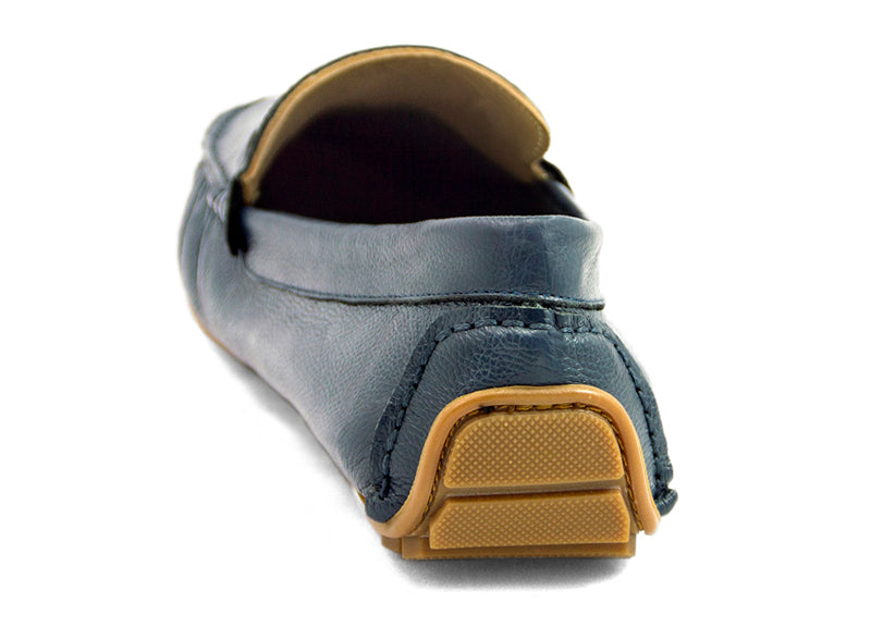 Load image into Gallery viewer, Tomaz B086A Buckle Loafers (Navy) - Tomaz Shoes (9287539784)