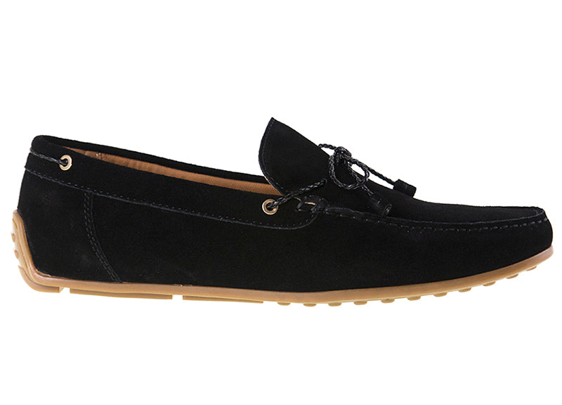 Tomaz BF002 Suede Moccasins (Black) - Tomaz Shoes (9884396232)