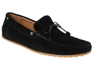 Tomaz BF002 Suede Moccasins (Black) - Tomaz Shoes