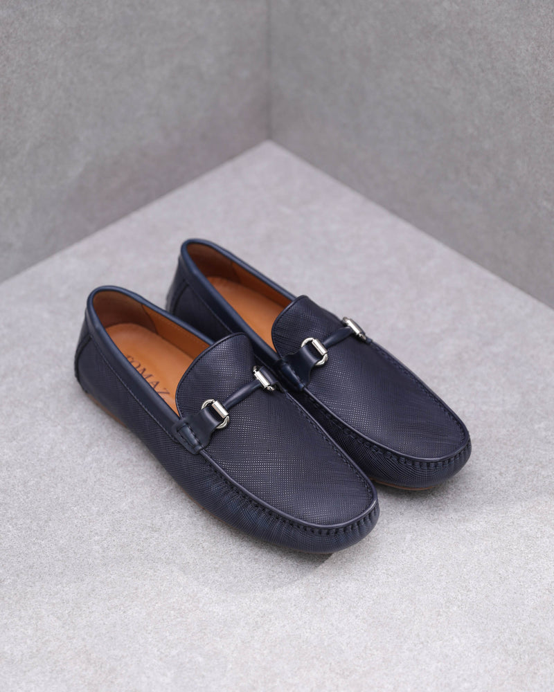 Tomaz C359 Buckled Loafers (Navy)
