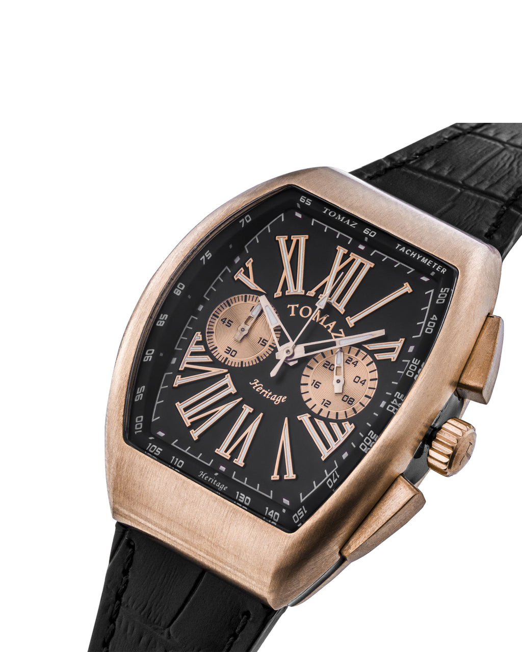 Tomaz TQ012-D3 Men's Watch (Rose Gold/Black)