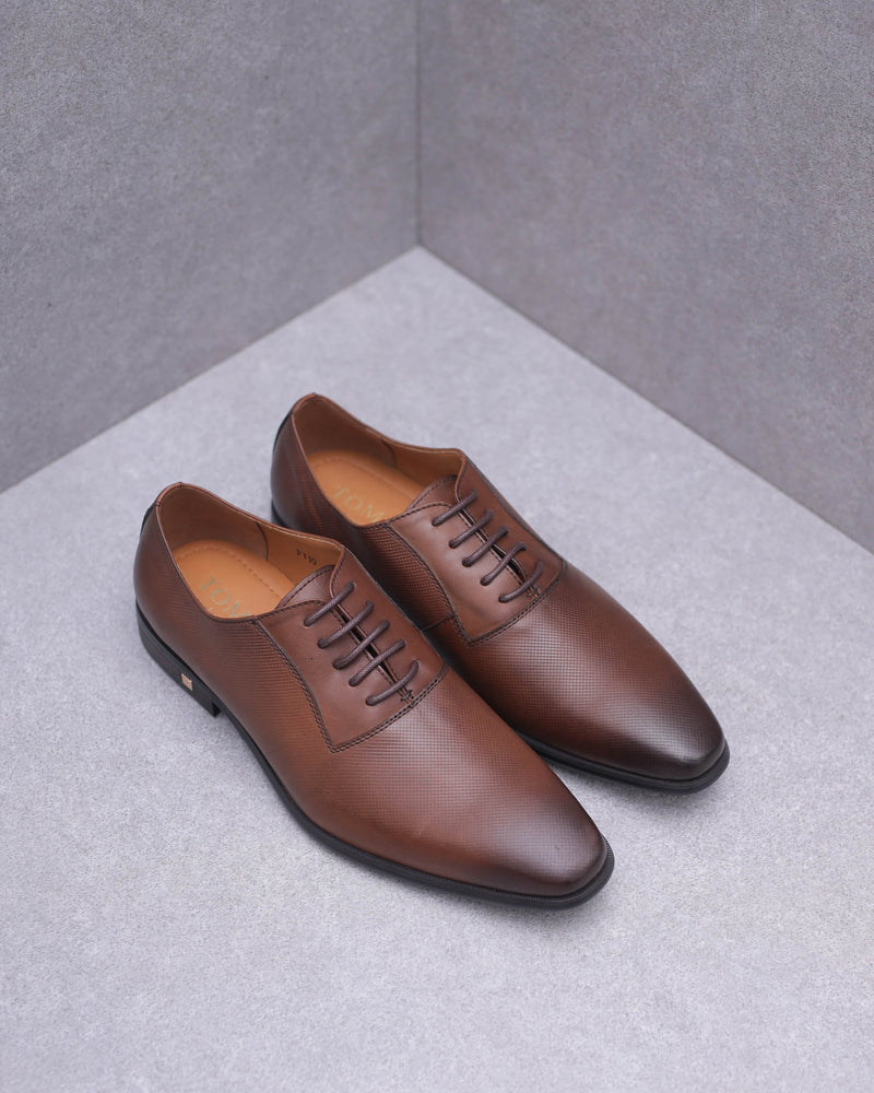 Tomaz F110 Plain Toe Oxford (Brown)