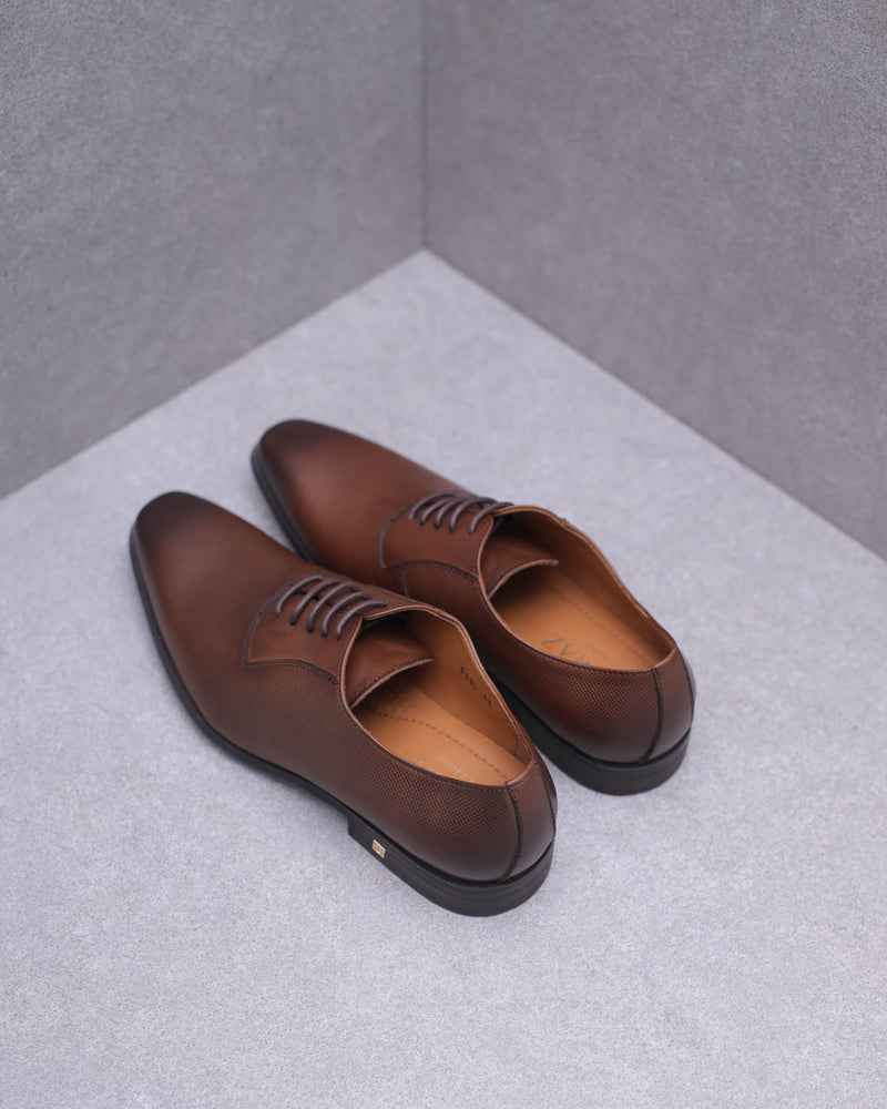 Load image into Gallery viewer, Tomaz F110 Plain Toe Oxford (Brown)