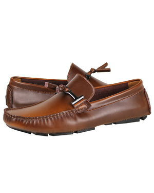 Load image into Gallery viewer, Tomaz C004A Buckled Tassel Loafers (Brown) men's shoes casual, men's dress shoes, discount men's shoes, shoe stores, mens shoes casual, men's casual loafers men's loafers sale, men's dress loafers, shoe store near me.