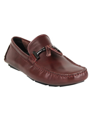 Load image into Gallery viewer, Tomaz C004A Buckled Tassel Loafers (Wine) men's shoes casual, men's dress shoes, discount men's shoes, shoe stores, mens shoes casual, men's casual loafers men's loafers sale, men's dress loafers, shoe store near me.