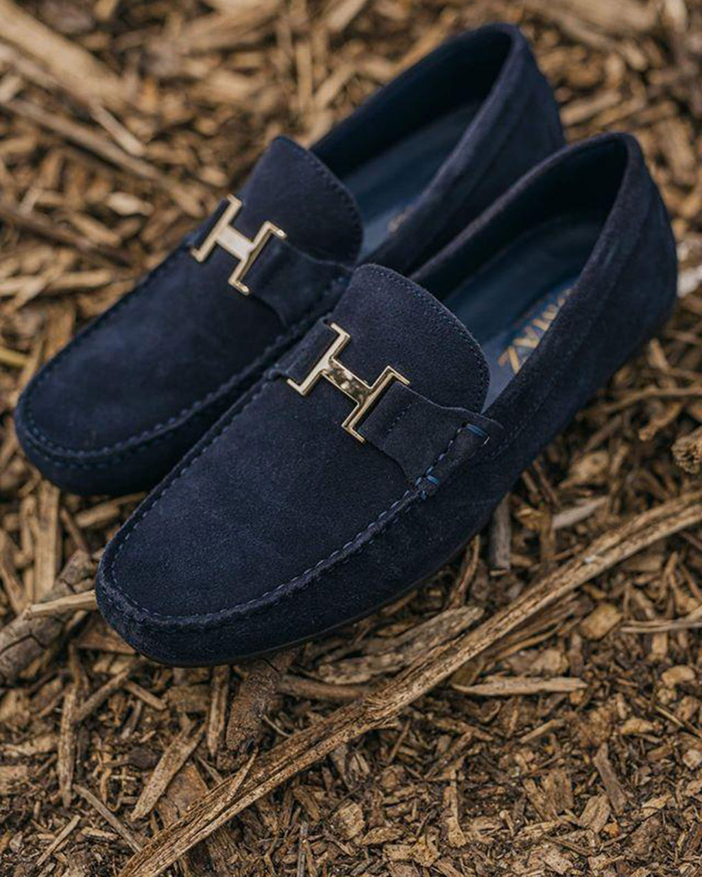 Tomaz C031 Buckled Loafers (Navy)
