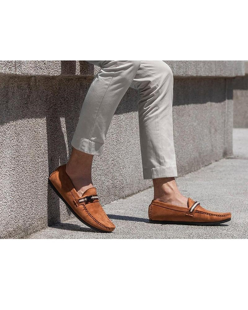 Tomaz C057A Side Buckled Loafers (Brown) (2312012988512)