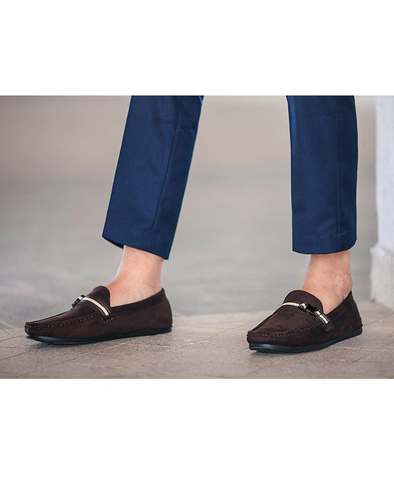 Tomaz C057A Side Buckled Loafers (Coffee) (336737697821)