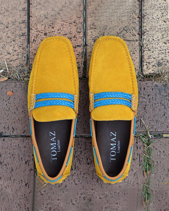 Tomaz C093 Moccasins (Yellow) (4463452815456)