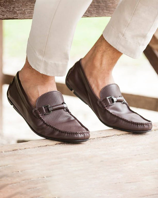 Tomaz C142 Buckle Loafers (Coffee) (420825366557)