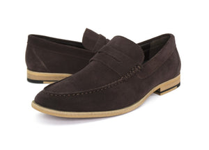 Tomaz C229 Penny Loafers (Coffee) - Tomaz Shoes