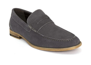 Tomaz C229 Penny Loafers (Grey) - Tomaz Shoes