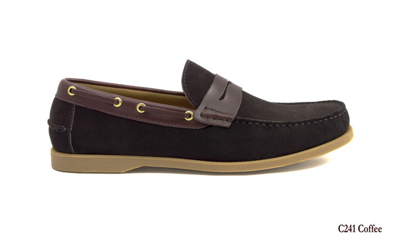 Tomaz C241 Penny Boatshoes (Coffee) - Tomaz Shoes (7753465416)