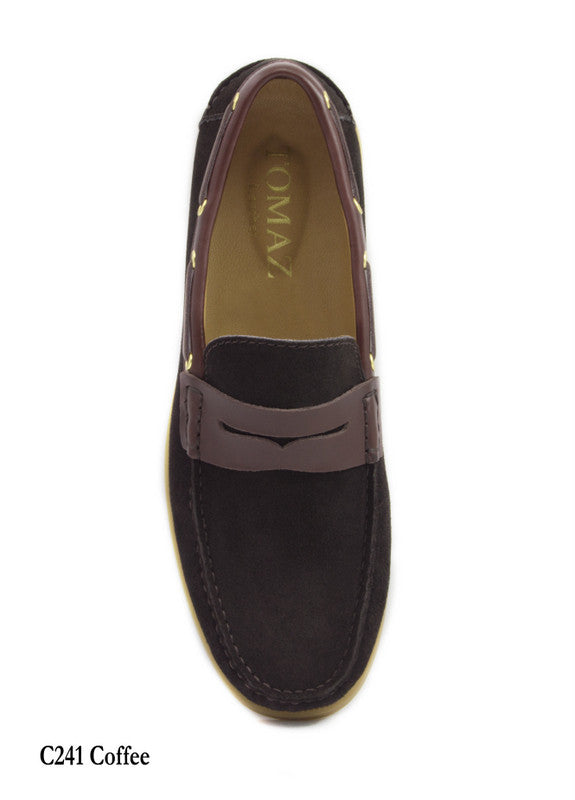 Load image into Gallery viewer, Tomaz C241 Penny Boatshoes (Coffee) - Tomaz Shoes (7753465416)