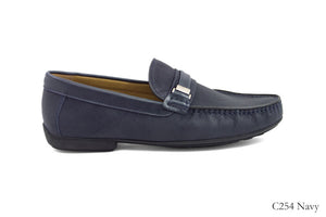 Tomaz C254 Buckled Loafers (Navy) - Tomaz Shoes
