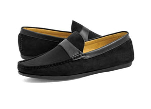 Tomaz C256 Penny Strap Loafers (Black) - Tomaz Shoes