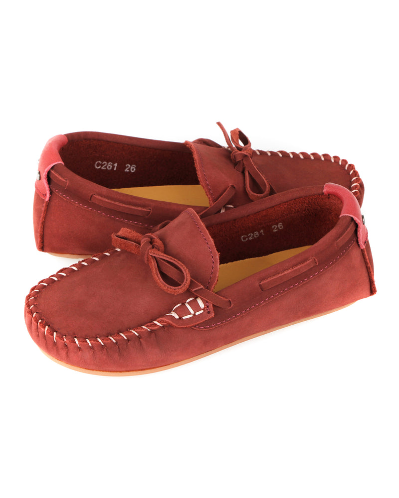 Load image into Gallery viewer, Tomaz C261 Kids Ribbon Tassel Moccasins (Wine)