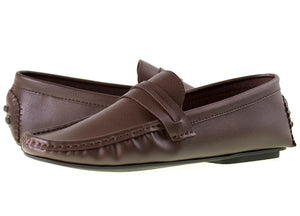 Load image into Gallery viewer, Tomaz C272 Striped Slip On (Coffee) - Tomaz Shoes (9328415944)