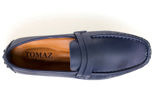 Load image into Gallery viewer, Tomaz C272 Striped Slip On (Navy) - Tomaz Shoes (9328435912)