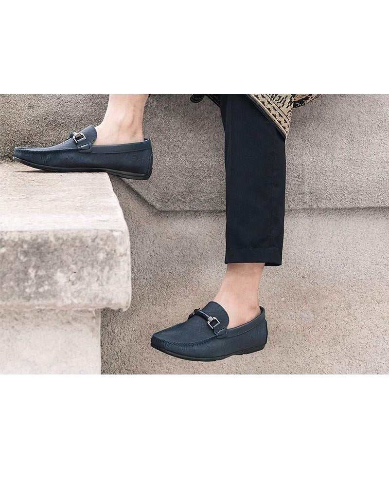Tomaz C283 Front Buckle Loafers (Navy) men's shoes casual, men's dress shoes, discount men's shoes, shoe stores, mens shoes casual, men's casual loafers men's loafers sale, men's dress loafers, shoe store near me.