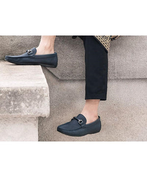 Tomaz C283 Front Buckle Loafers (Navy) - Tomaz Shoes