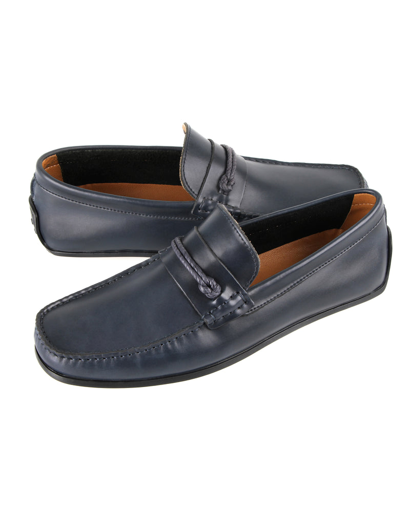 Tomaz C286 Side Braided Moccasins (Navy) men's shoes casual, men's dress shoes, discount men's shoes, shoe stores, mens shoes casual, men's casual loafers men's loafers sale, men's dress loafers, shoe store near me.
